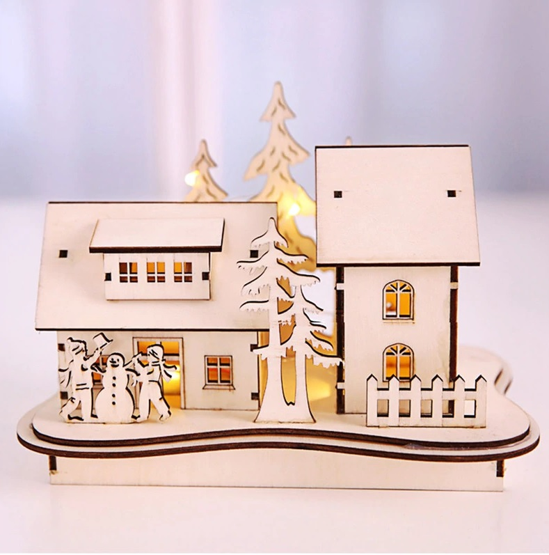 Finely Curated Christmas Home Gift Idea Led Luminous Miniature House