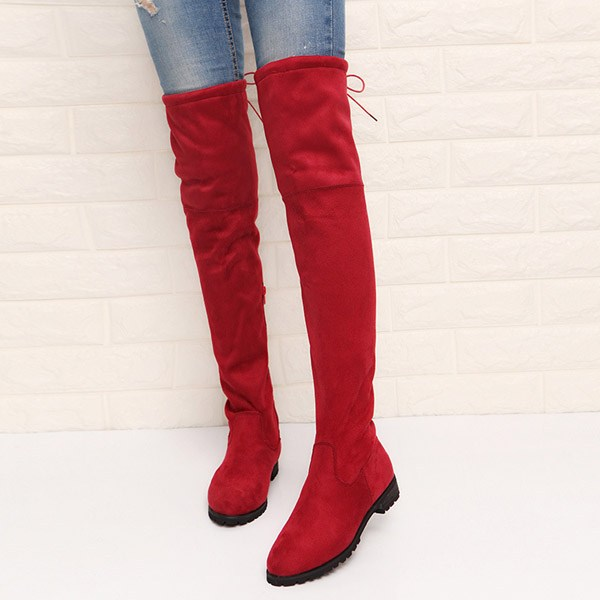 New Women S Over The Knee Suede Boots Thigh High Winter Footware