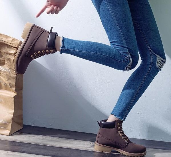 Women S Winter Boots Warm Flat Heel Stylish Shoes 2019 Exparis