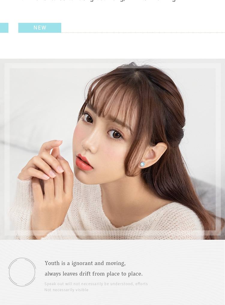 Thaya Hot Aurora Forest Silver 925 Stud Earrings