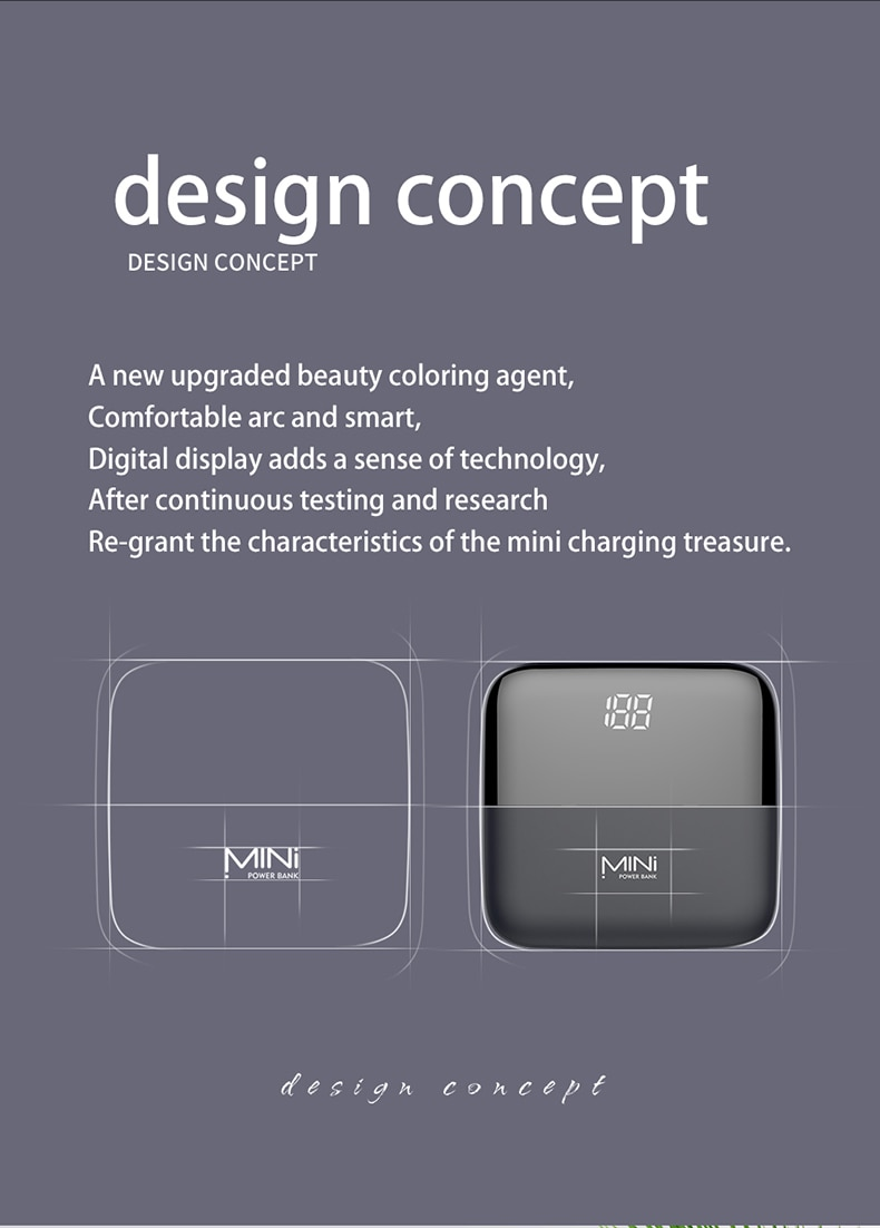 Powerful 10000mAh Mini LED Digital Display Pover Bank