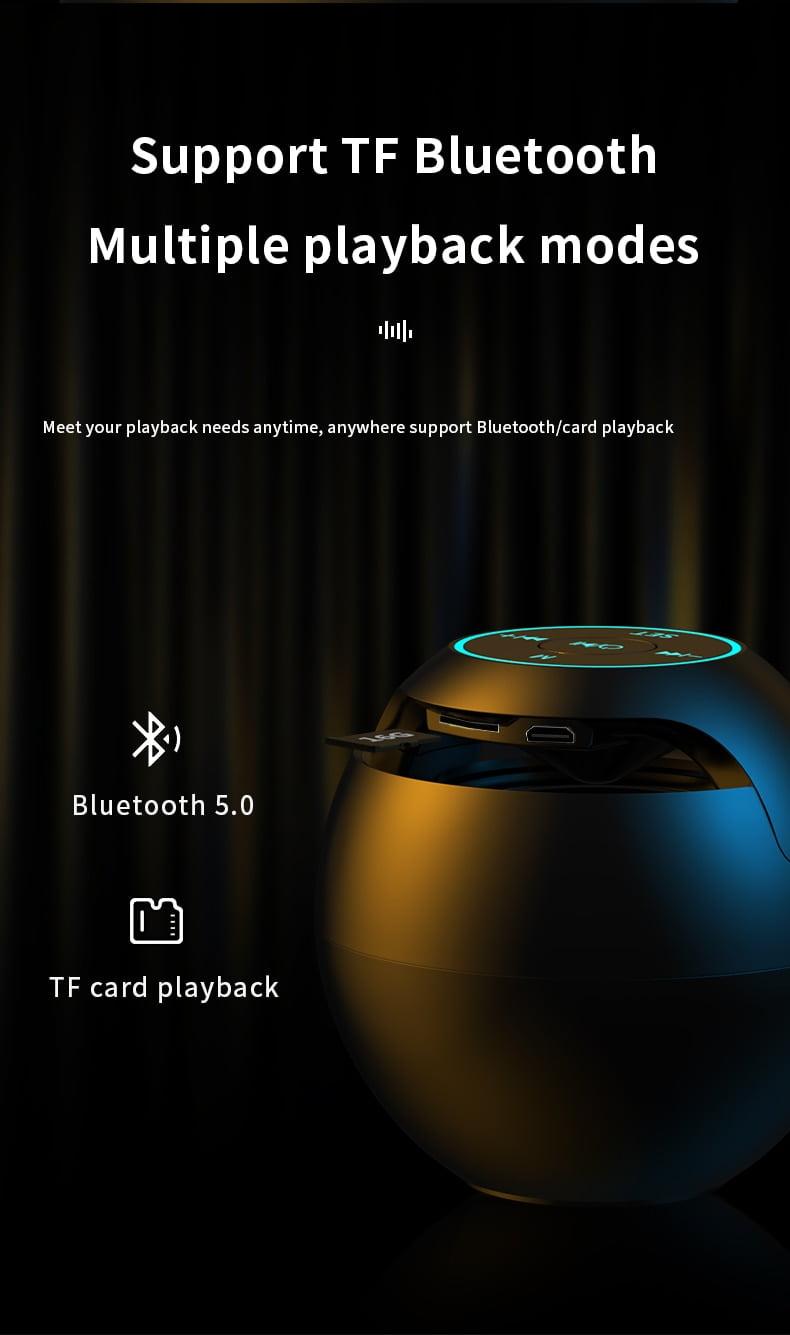 MIni Bar Colorful Lights Hifi Sound Bluetooth Speaker